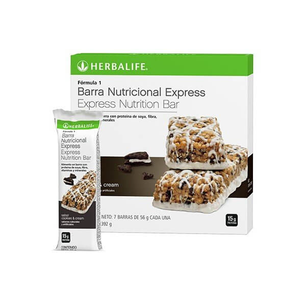 Fórmula 1 Herbalife Barra Nutricional Express sabor Cookies and Cream
